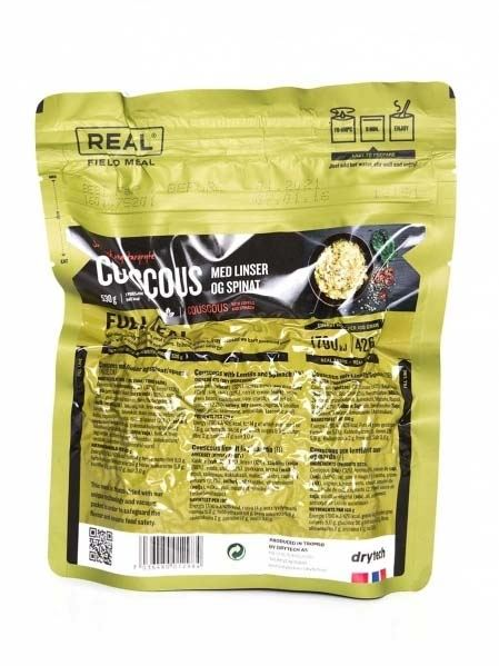 Real Real Field Meal Couscous mit Linsen und Spinat (vegetarisch)