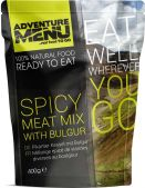 Adventure Menu Spicy meat mix with bulgur