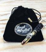 Real Bullet Design Key Chain Lady Skull .357 Magnum