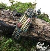 Real Bullet Design Paracord Bracelet Bullet Twins